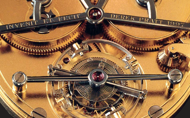 Pocket Watch Escapement Mechanism