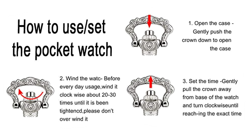 how to use my mechanical pocket watch