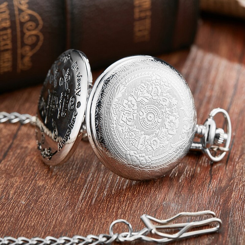 """To My Husband"" Silver Pocket Watch"