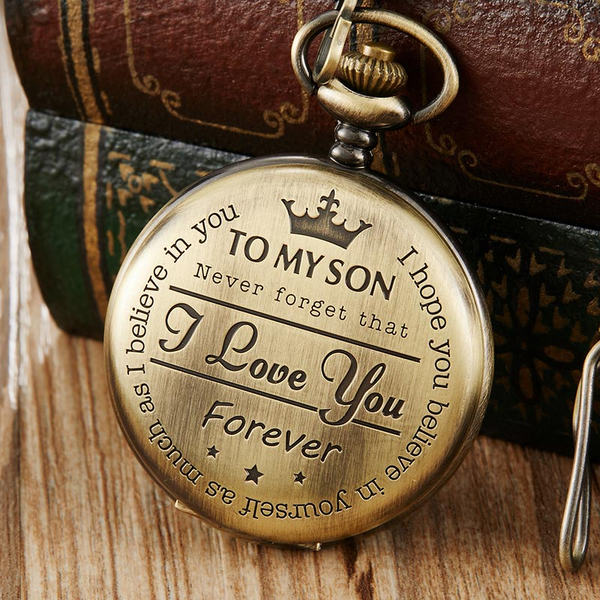 """To My Son"" Bronze Taschenuhr"