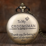 """To My Groomsman"" Bronze Taschenuhr"