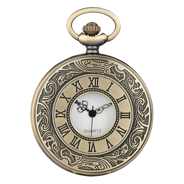 Bronze Analog Quartz Demi Pocket Watch