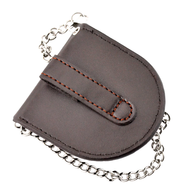Brown Button Clasp Pouch