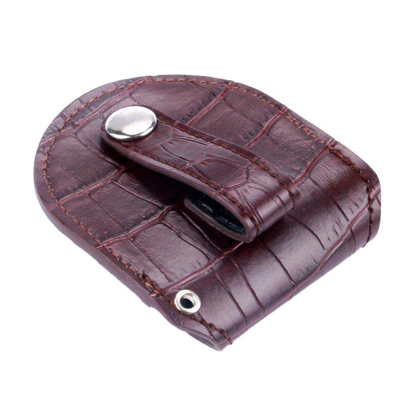 Brown Vintage Bonded Leather Pouch