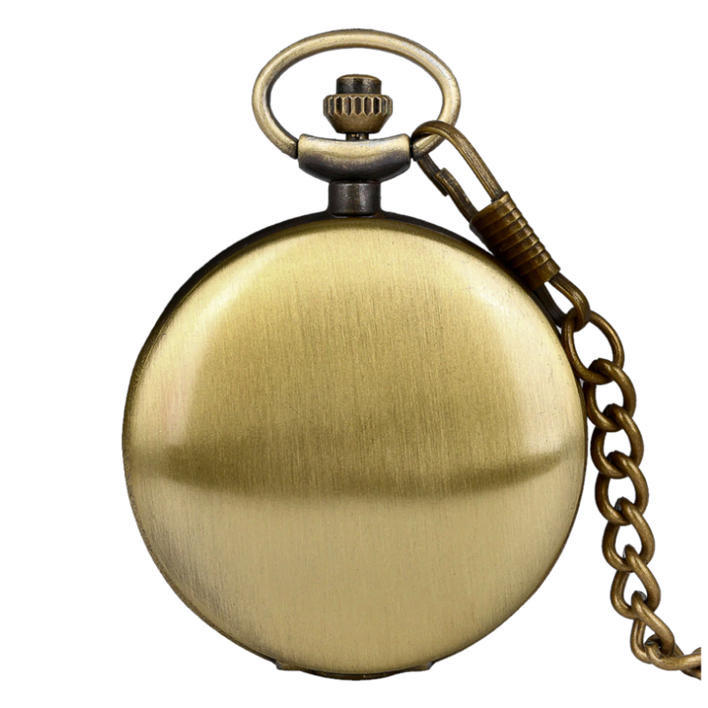 Retro Bronze Analog Quartz Pocket Watch
