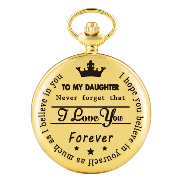 """To My Daughter"" Gold Pocket Watch"