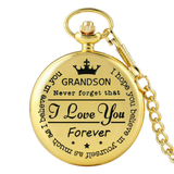 """To My Grandson"" Gold Pocket Watch"