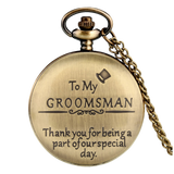 """To My Groomsman"" Bronze Pocket Watch"
