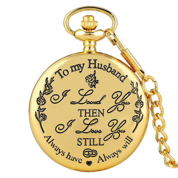 """To My Husband"" Gold Taschenuhr"
