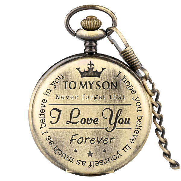 """To My Son"" Bronze Pocket Watch"