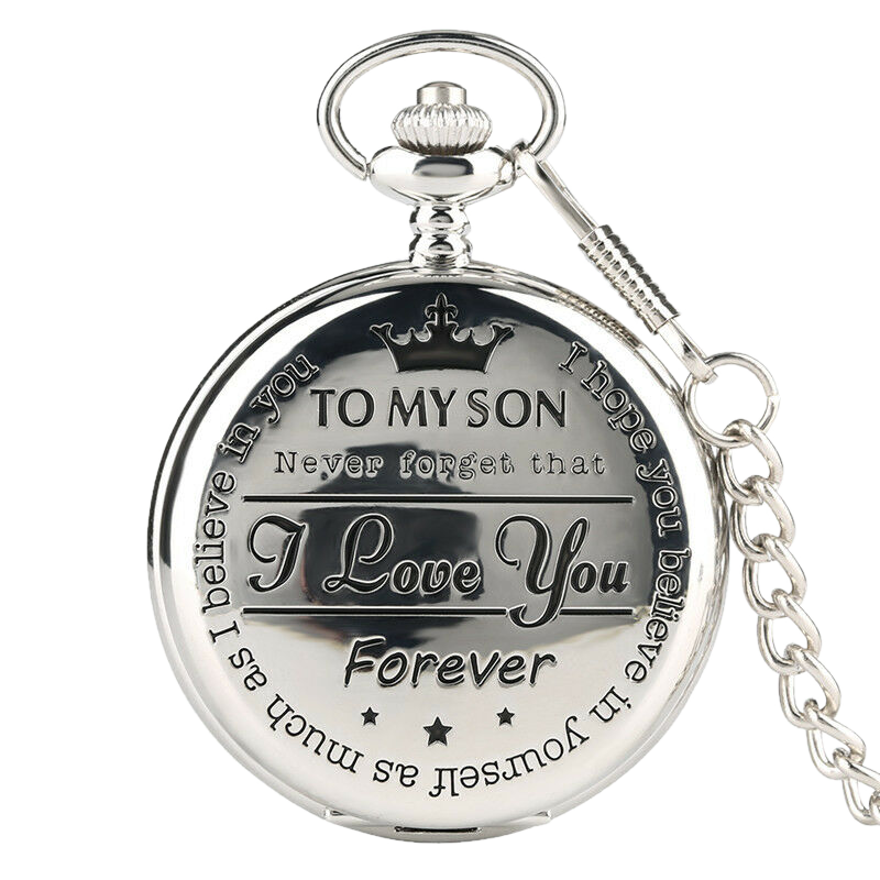 """To My Son"" Silver Pocket Watch"