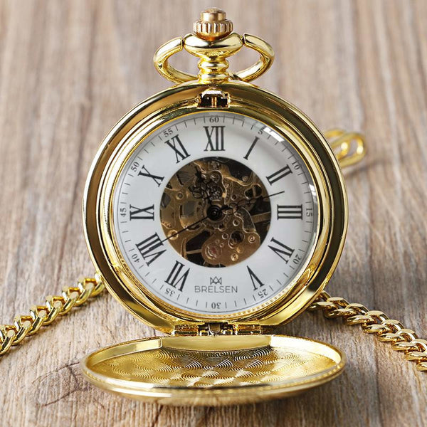 Royal Gold Double Hunter Mechanische Taschenuhr