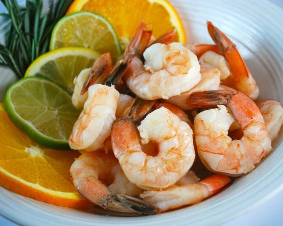 Clean Poached Shrimp
