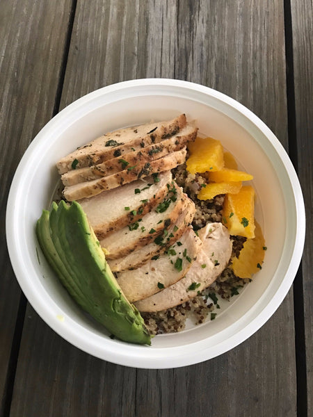 Clean Chicken Quinoa Bowl
