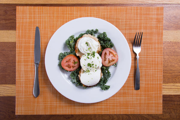 "Kale & Egg Sweet Potato ""Toast"""