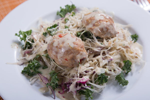 Chicken Ball Kale Slaw