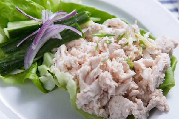 Shredded Chicken Lettuce Wraps