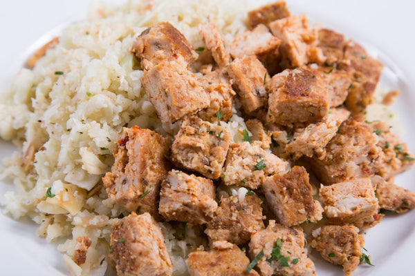 "Spicy Turkey with Lemon Herb ""Rice"""