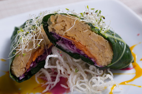 "Vegan ""tuna"" Collard Wrap"