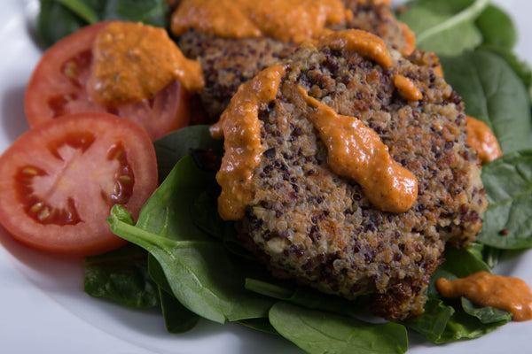 Mediterranean Quinoa Patties