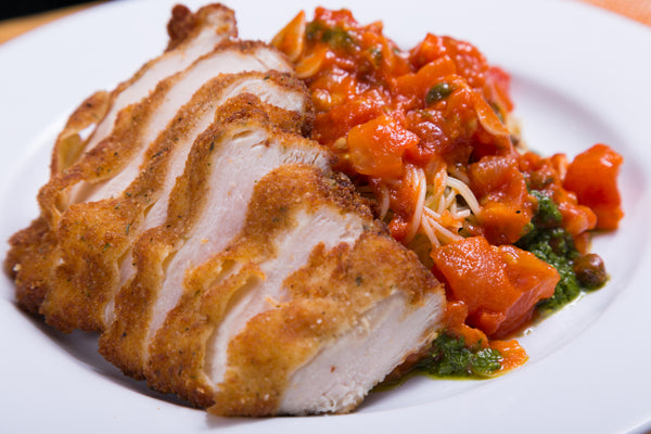 Chicken Pomodoro with Angel Hair