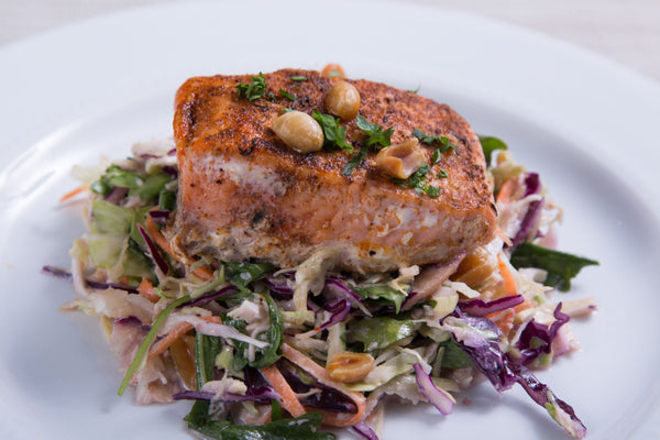 Summer Salmon with Peanut Slaw