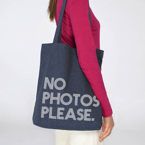 "Load image into Gallery viewer, ""No Photos Please"" Tote Bag - Harrow and Green"