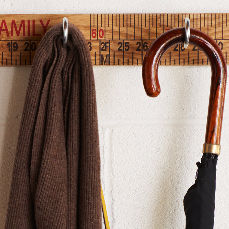 Load image into Gallery viewer, Custom Coat Hook Ruler (3 or 5 hooks) - Harrow and Green
