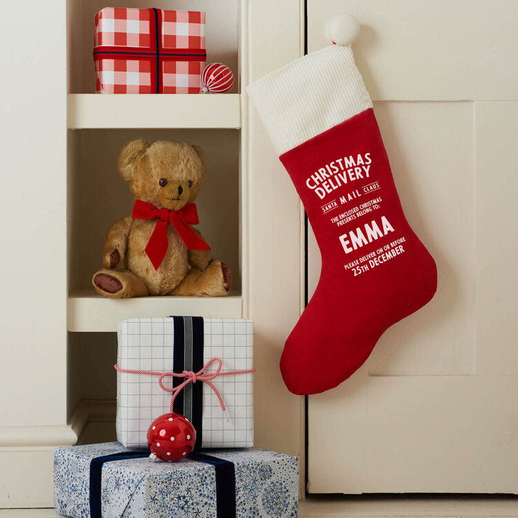 Load image into Gallery viewer, Personalised Corduroy Christmas Stocking - Harrow and Green
