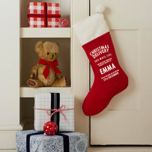 Personalised Corduroy Christmas Stocking - Harrow and Green