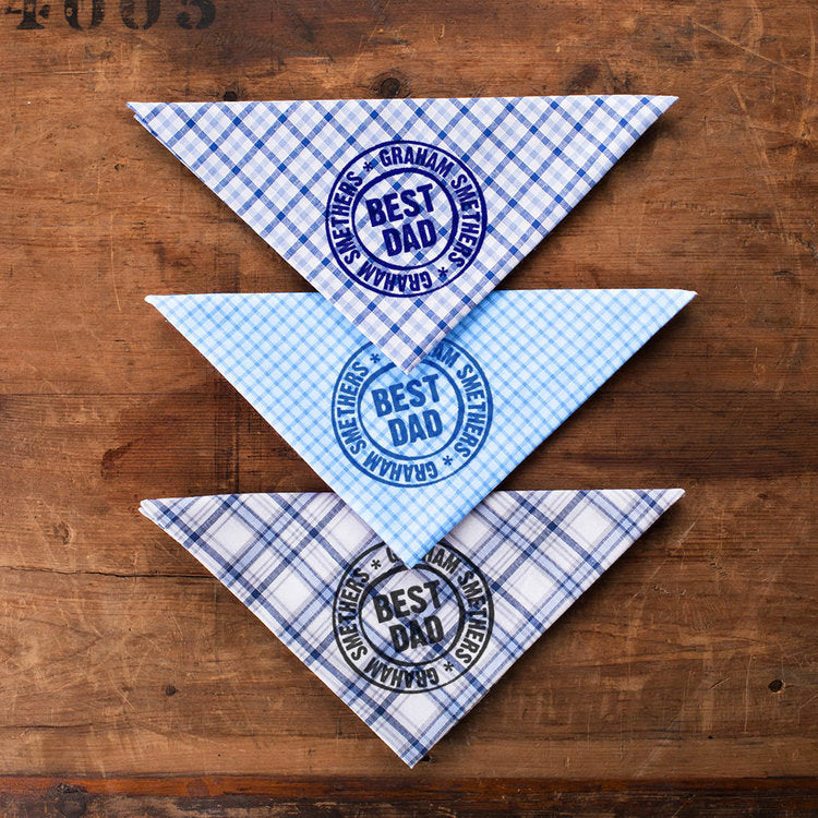 Best Dad Personalised Handkerchiefs - Harrow and Green USA