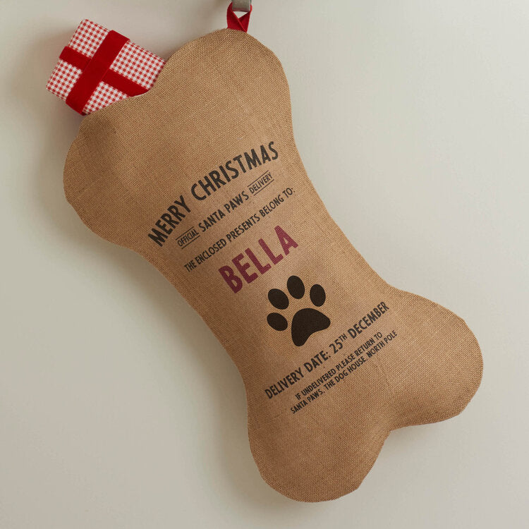 Personalised Dog Christmas Stocking - Harrow and Green