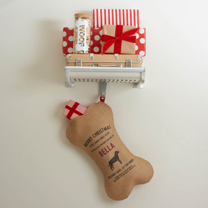Personalize at Home Burlap Dog Santa Stocking - HarrowandGreen