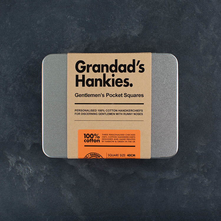 Best Grandad Personalised Handkerchiefs - Harrow and Green