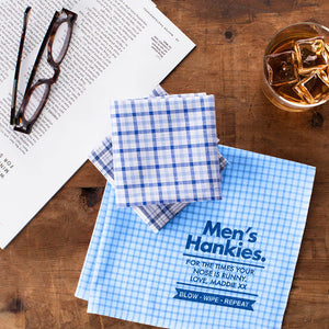 Mens Personalised Message Handkerchiefs - Harrow and Green USA