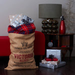 Letterpress Christmas Sack with Tartan Trim - Harrow and Green