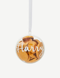 Personalized for You - Chocolate Treat Tree Ornament / Bauble - HarrowandGreen