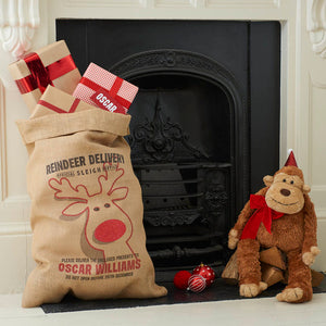 Personalised Rudolph Christmas Sack - Harrow and Green