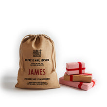Load image into Gallery viewer, Personalize at Home Burlap Drawstring Santa Sack - HarrowandGreen