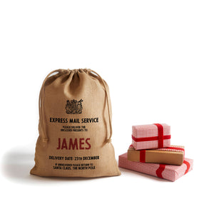 Personalize at Home Burlap Drawstring Santa Sack - HarrowandGreen