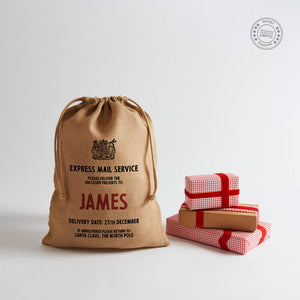"""Make-your-Own"" Personalised Santa Sack with Drawstring - Harrow and Green"