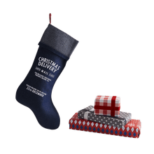 Load image into Gallery viewer, Personalize at Home Denim Santa Stocking - HarrowandGreen