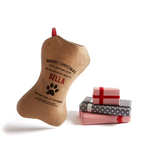 Personalized for You Burlap Dog Santa Stocking - HarrowandGreen