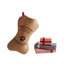 Load image into Gallery viewer, Personalize at Home Burlap Dog Santa Stocking - HarrowandGreen