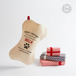 """Make-your-Own"" Personalised Dog Bone Christmas Stocking - Harrow and Green"