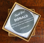 Funny Hankies Set of 2 - Donald / Hillary (25% goes to the American Red Cross) - Harrow and Green