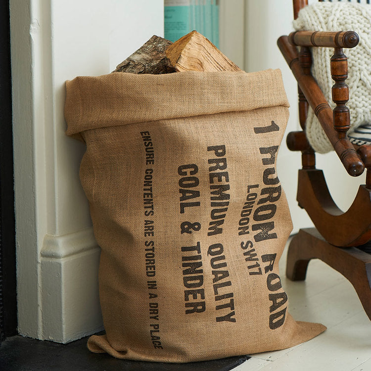 Personalized Kindling Sack - Harrow and Green
