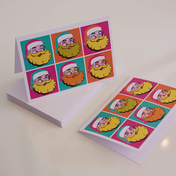 Load image into Gallery viewer, Warhol Father Christmas Card - Harrow and Green