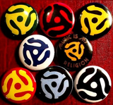 1 inch set of 8 45 Adapter  buttons badge pins