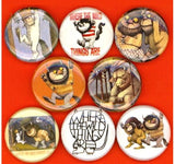 Where the wild things are buttons badge pins set of 8